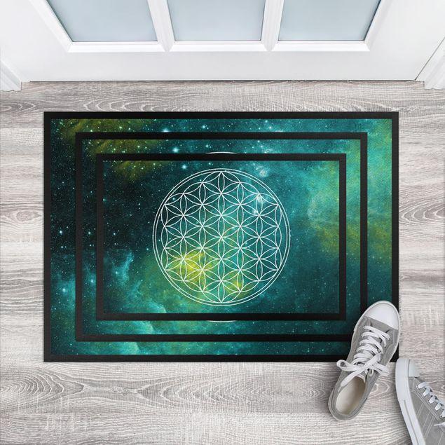 Fußmatte - Blume des Lebens im Lichtermeer