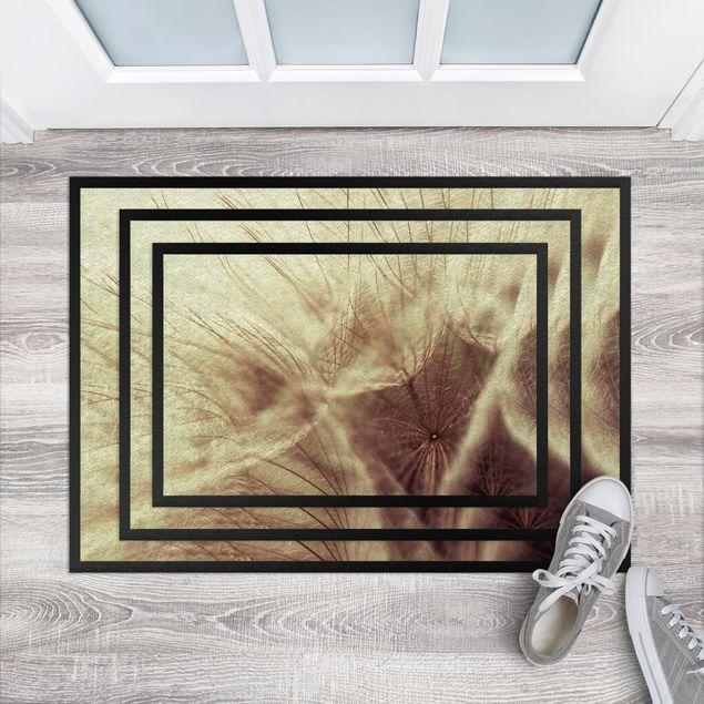 Fußmatte - Detailreiche Pusteblumen Makroaufnahme mit Vintage Blur Effekt