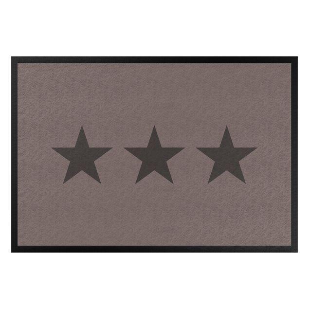 Fußmatte - Drei Sterne graubraun