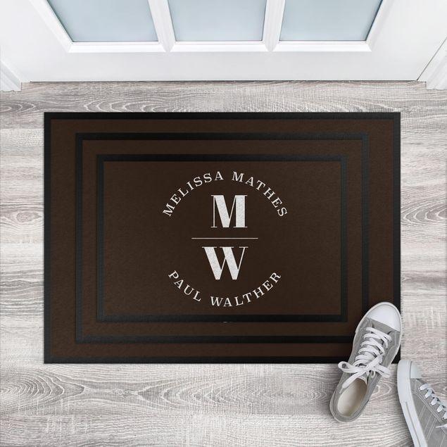 Fußmatte - Große Initialien Wunschtext