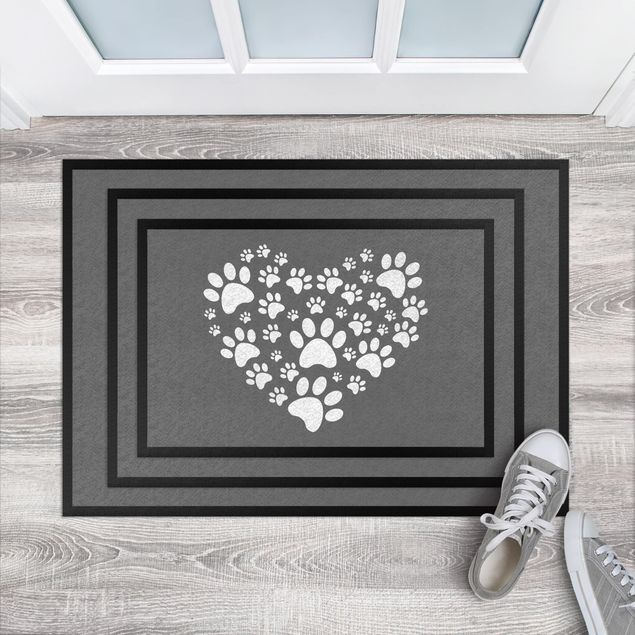 Fußmatte - Herz für 4 Pfoten