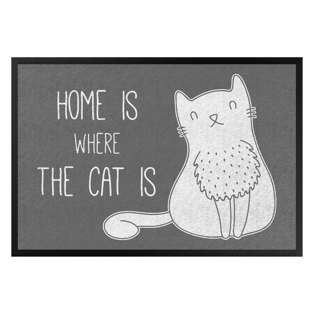 Fußmatte - Home is where the cat is II