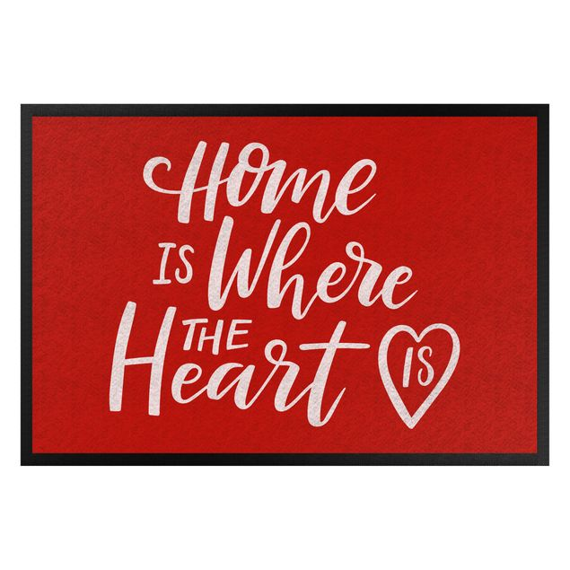 Fußmatte - Home is where the heart is