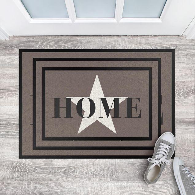 Fußmatte - Home Stern weiß