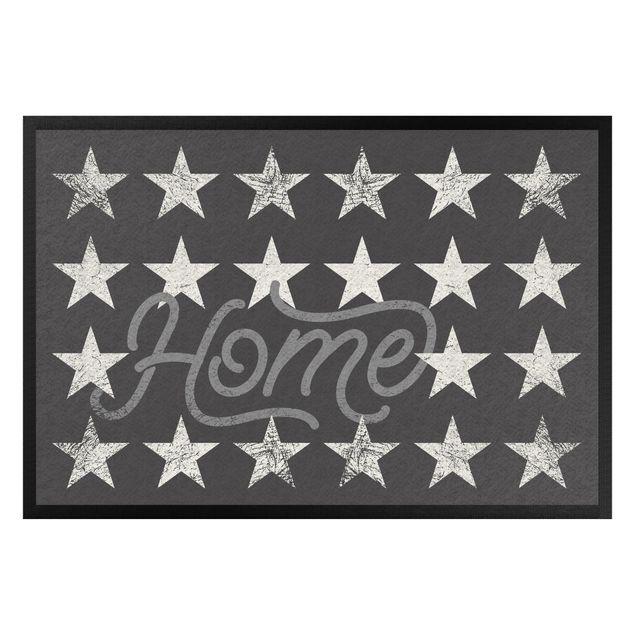 Fußmatte - Home Sterne dunkelgrau