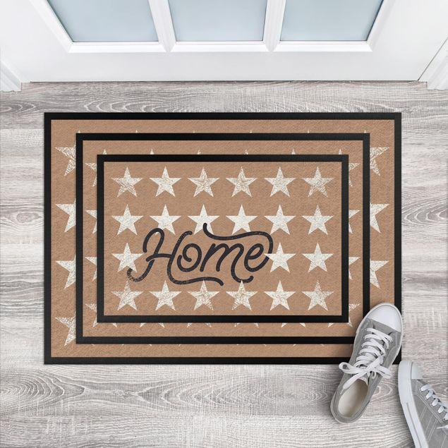 Fußmatte - Home Sterne khaki