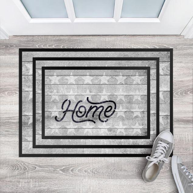 Fußmatte - Home Sterne Shabby
