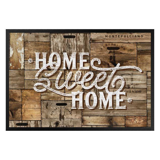 Fußmatte - Home sweet home Holzwand