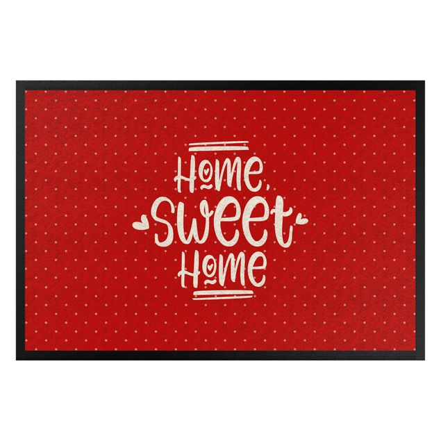 Fußmatte - Home sweet home polkadots