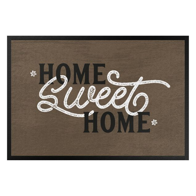 Fußmatte - Home sweet home shabby brown