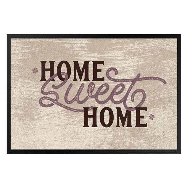 Fußmatte - Home sweet home shabby white