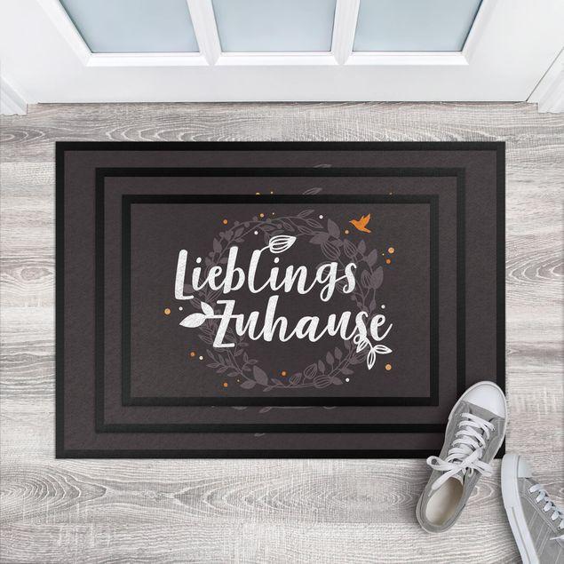 Fußmatte - Lieblingszuhause