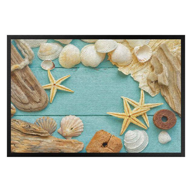 Fußmatte - Muscheln und Treibholz