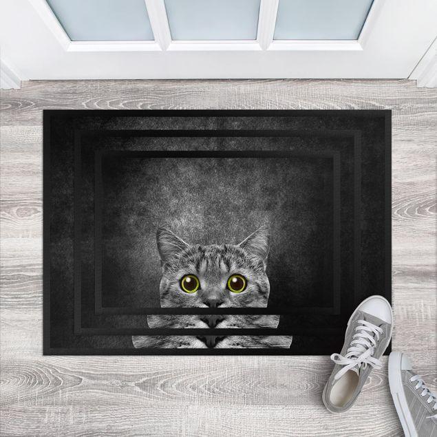 Fußmatte - Neugierige Katze