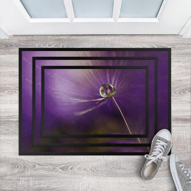 Fußmatte - Pusteblume in Violett