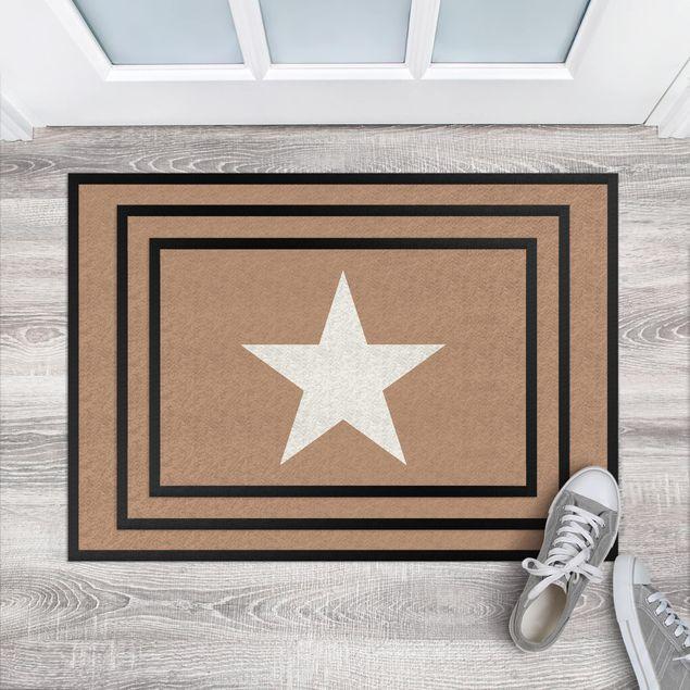 Fußmatte - Stern in khaki