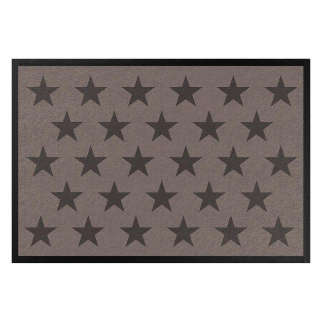 Fußmatte - Sterne versetzt graubraun