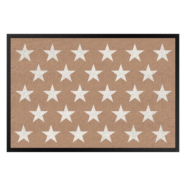 Fußmatte - Sterne versetzt khaki