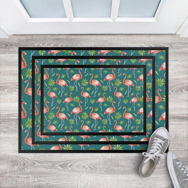 Fußmatte - Tropisches Flamingo Pattern