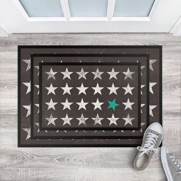 Fußmatte - Türkiser Stern
