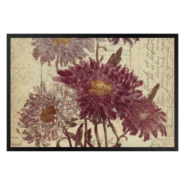 Fußmatte - Vintage Blüten