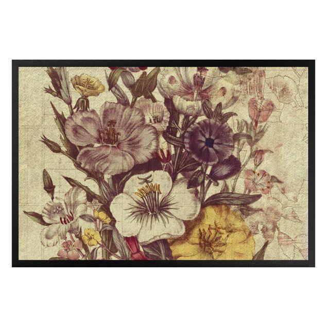 Fußmatte - Vintage Blumenstrauss II
