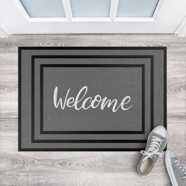 Fußmatte - Welcome handwritten