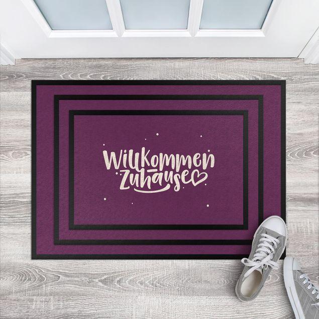 Fußmatte - Willkommen Zuhause Herz