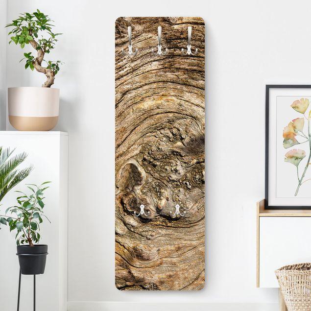 Garderobe - Alte Holzstruktur
