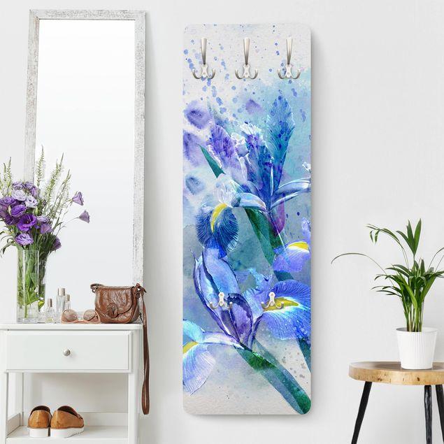 Garderobe - Aquarell Blumen Iris