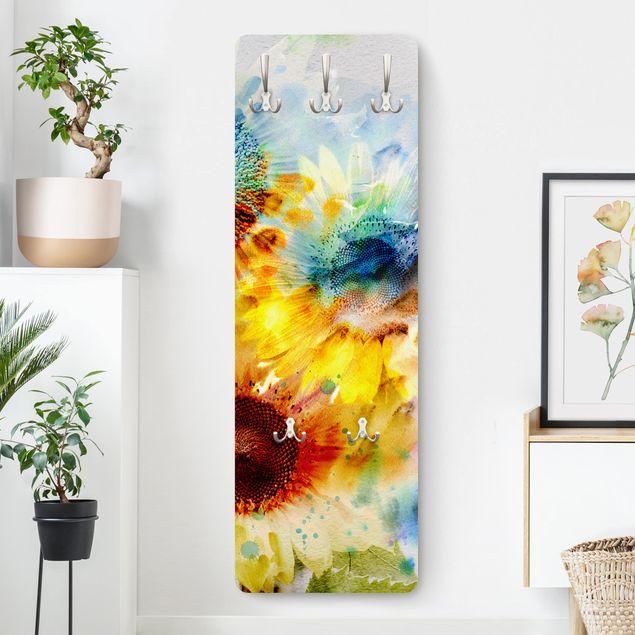 Garderobe - Aquarell Blumen Sonnenblumen