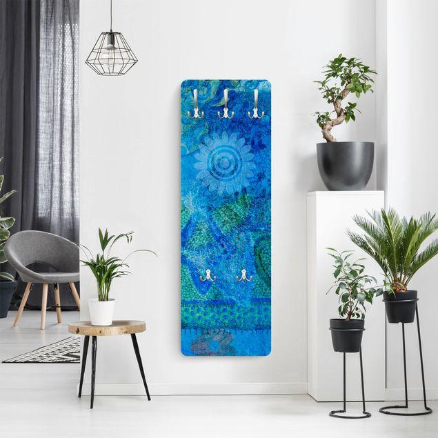 Garderobe Blumen - Terra Azura - Blau