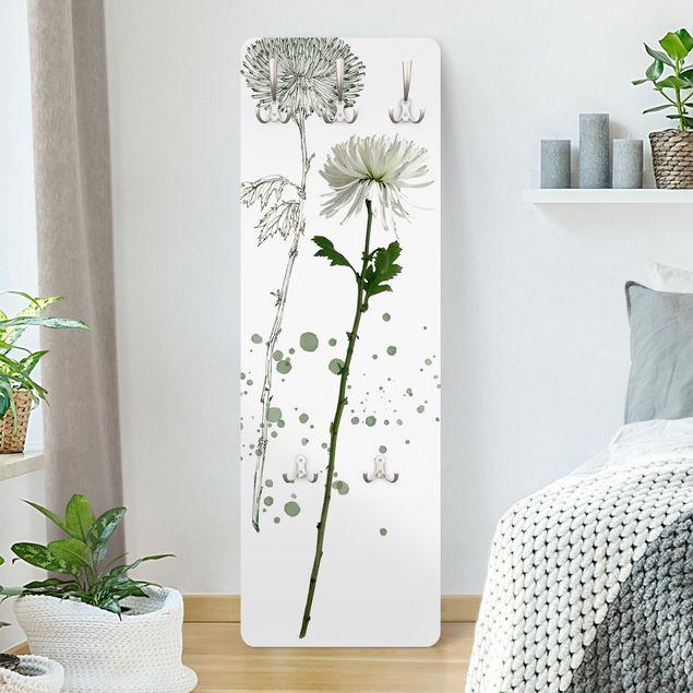 Garderobe - Botanisches Aquarell - Löwenzahn