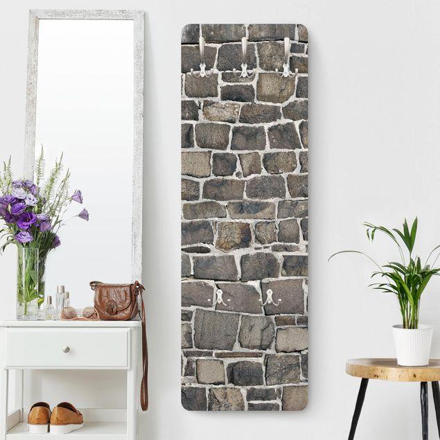 Garderobe - Bruchsteintapete Natursteinwand