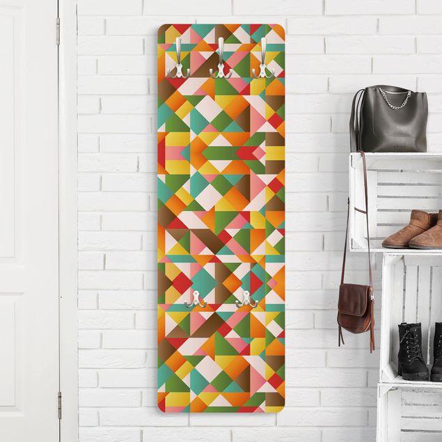 Garderobe - Dreiecke Musterdesign