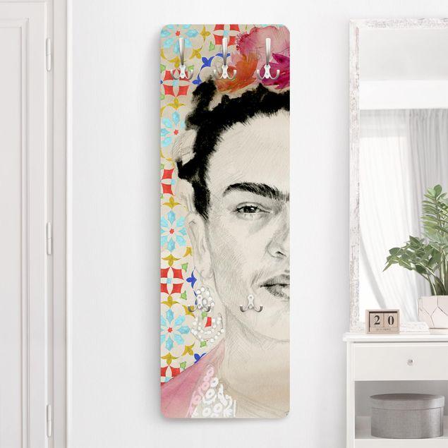 Garderobe - Frida mit rosa Blüten II