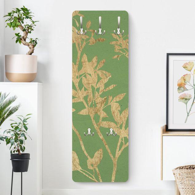 Garderobe - Goldene Blätter auf Lind II