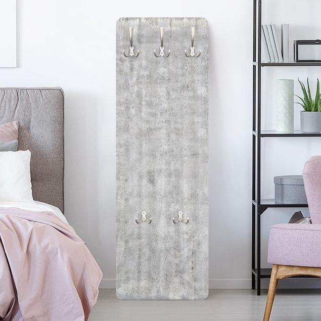 Garderobe - Große Wand mit Betonlook