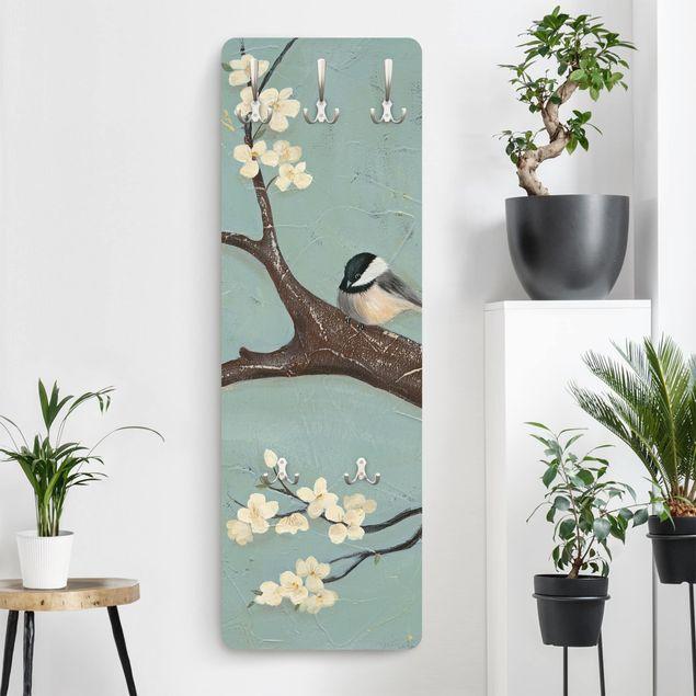 Garderobe - Meise auf Kirschbaum