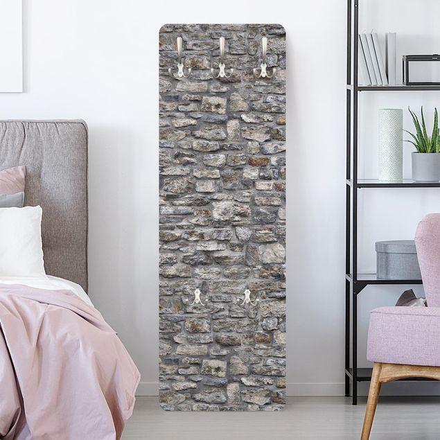 Garderobe - Naturstein Tapete Alte Steinmauer