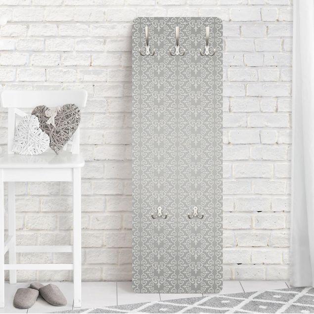 Garderobe - No.TA97 Antikes Muster Silber