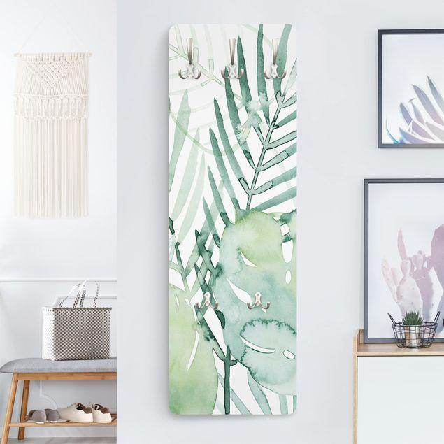 Garderobe - Palmwedel in Wasserfarbe I