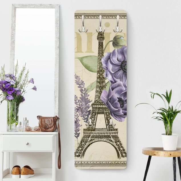 Garderobe - Paris Collage Eiffelturm