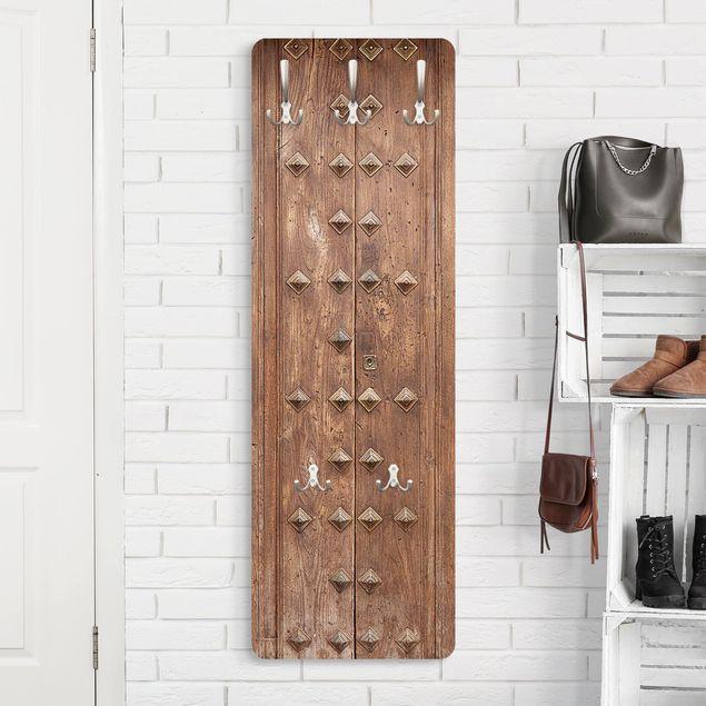 Garderobe - Rustikale spanische Holztür