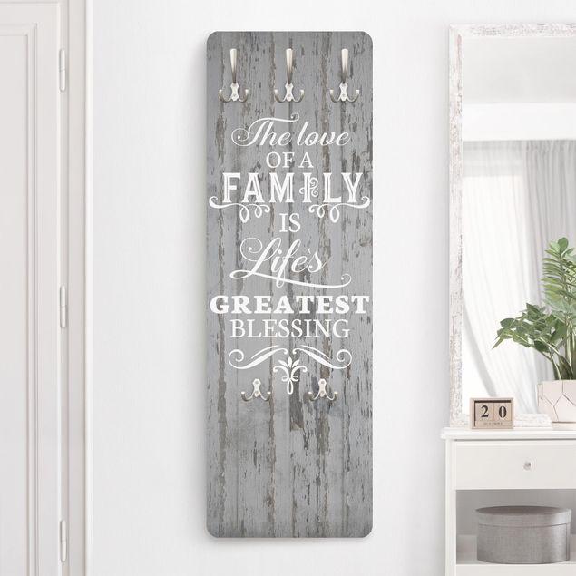 Garderobe - Shabby Holz - Family is