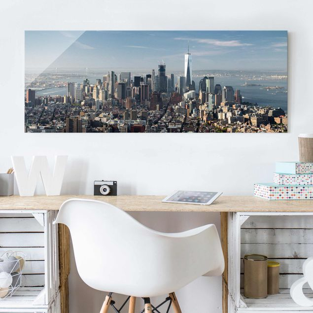 Glasbild - Blick vom Empire State Building - Panorama