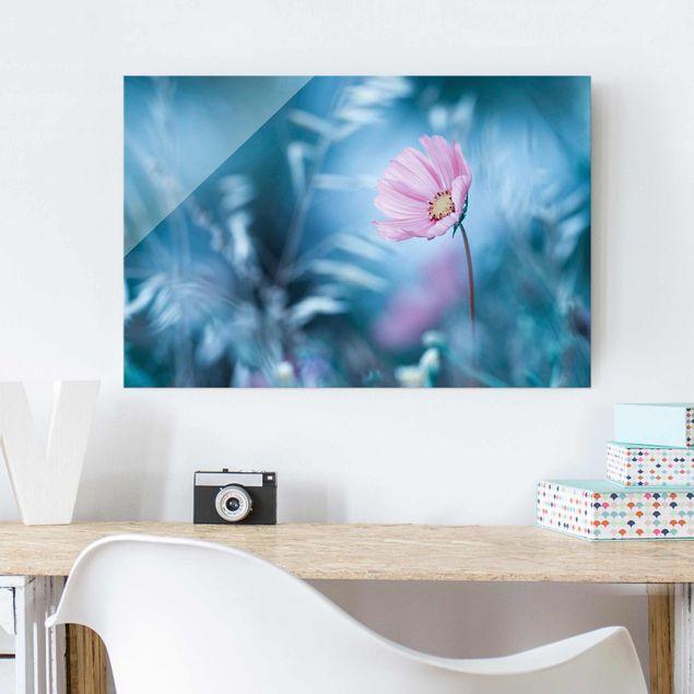 Glasbild - Blüte in Pastell - Quer 3:2
