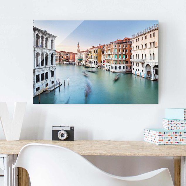 Glasbild - Canale Grande Blick von der Rialtobrücke Venedig - Querformat 2:3