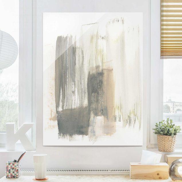Glasbild - Ein Hauch von Pastell I - Hochformat 4:3
