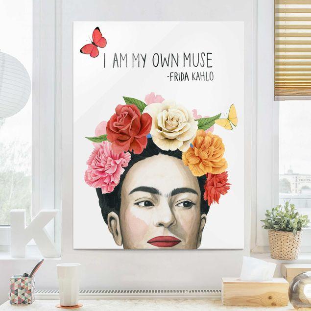 Glasbild - Fridas Gedanken - Muse - Hochformat 4:3